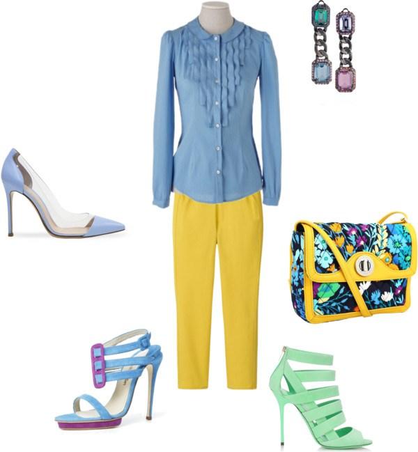 How to: yellow pants di annaturcato contenente stretch pants