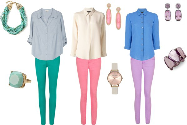 Spring Outfit by annaturcato featuring a blue shirt