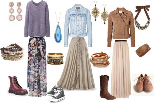How to: the long skirt by annaturcato featuring a long patterned skirt