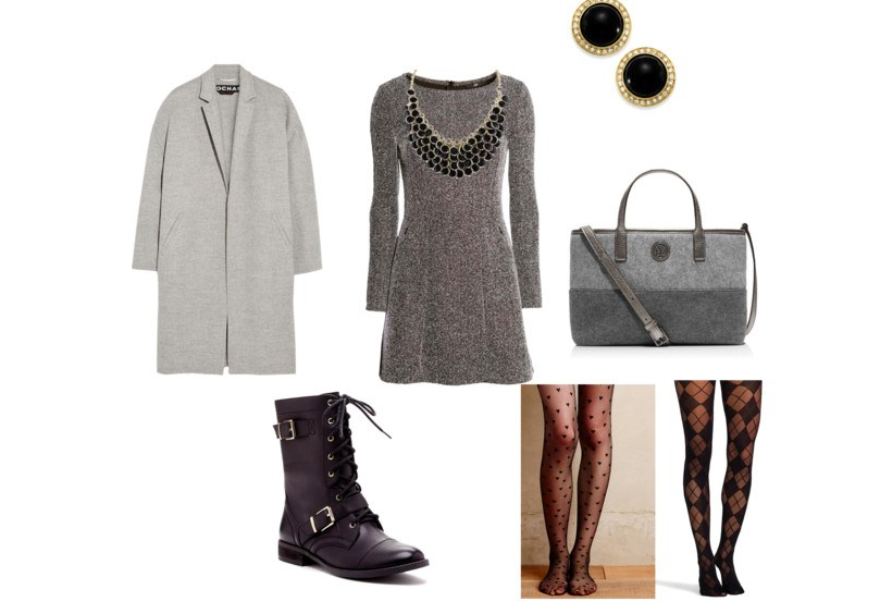 The grey dress by annaturcato featuring a gray dress