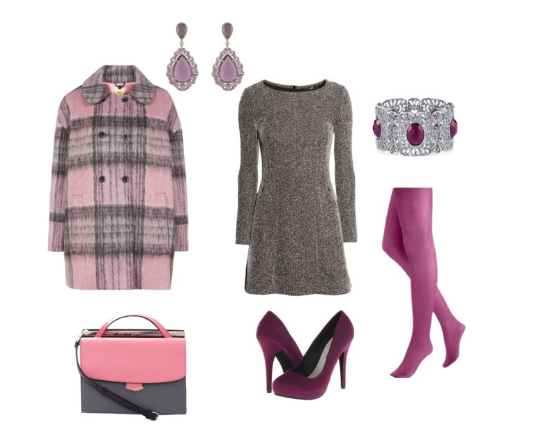 Grey dress by annaturcato featuring a long sleeve print dress