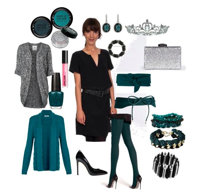 Petrol lady by annaturcato featuring a glitter purse
