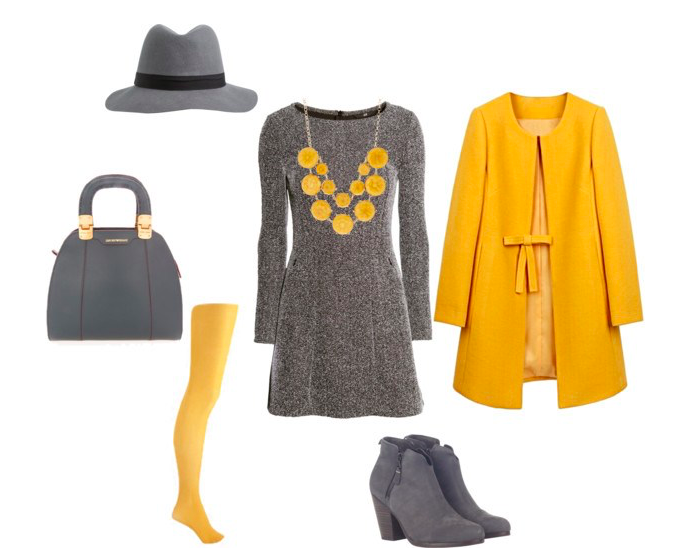 The grey dress di annaturcato contenente high heel boots
