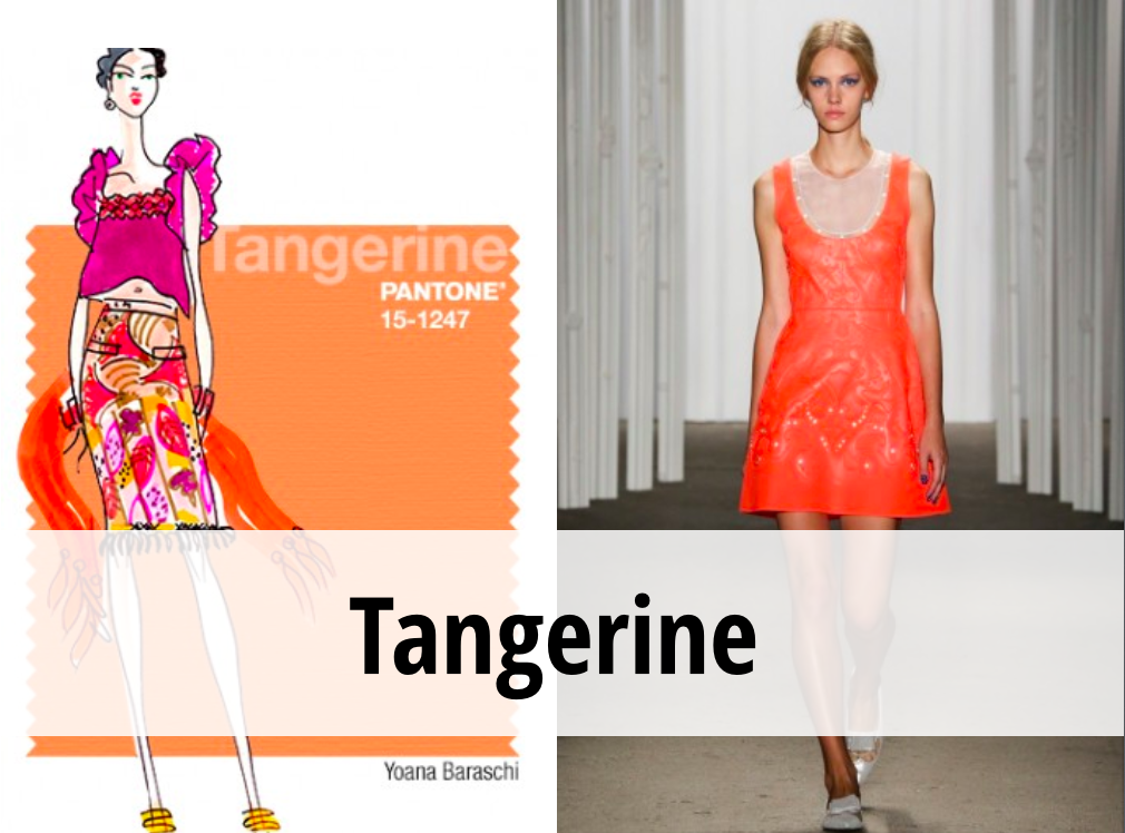 Tangerine colore tendenza Primavera 2015