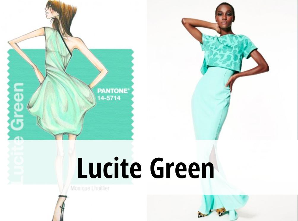 Lucite Green colore tendenza primavera