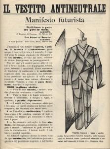 Vestito anti-neutrale divisa futurista