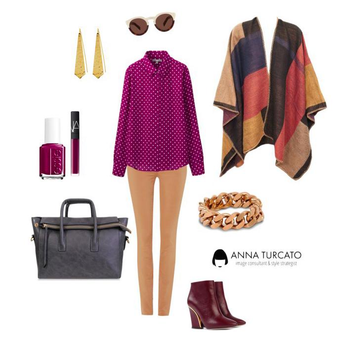 Come indossare la mantella in autunno by annaturcato featuring versace pants