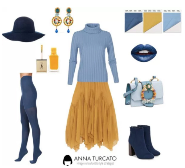 Riverside, Airy Blue and Spicy Mustard by annaturcato featuring a moisturizing lipstick