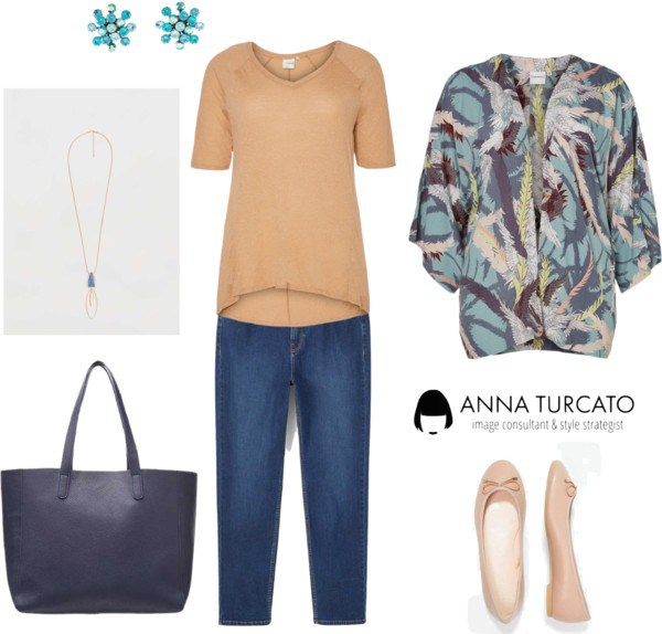 Autumn Curvy Lady by annaturcato featuring a beige top