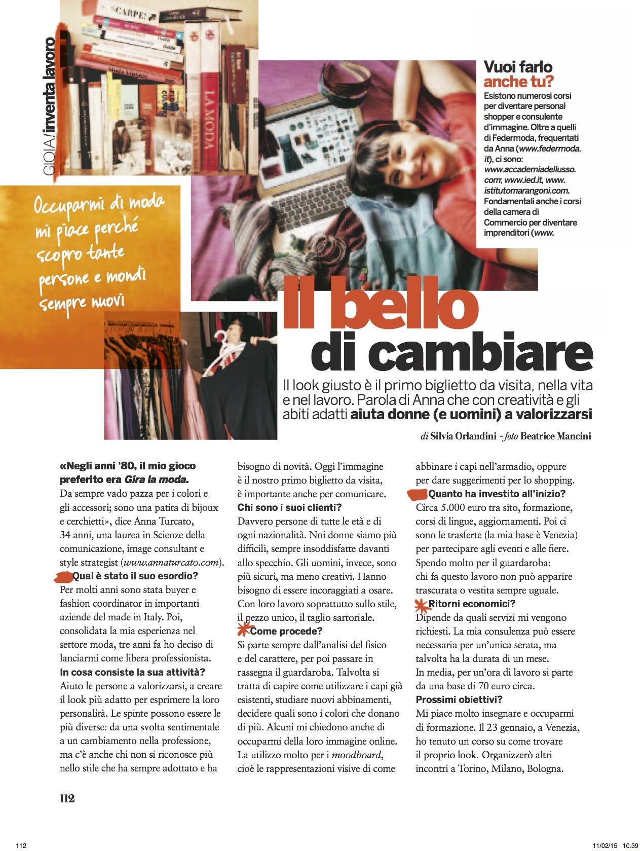 Intervista Anna Turcato Gioia