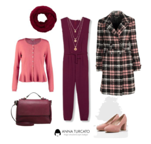 Girly Girl by annaturcato featuring a burgundy infinity scarf